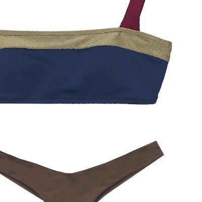 three colorway bikini top multi & T-back design bikini pants